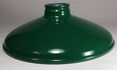 Metal Cone Lamp Light Shade Pendant 2.25 X 10 Green Porcelain Industrial Style