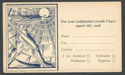 1921 NY American Architect Magazine Inquires As To Your Job Title