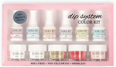 Kiara Sky Dipping Powders Essentials Kit With Clear Coat