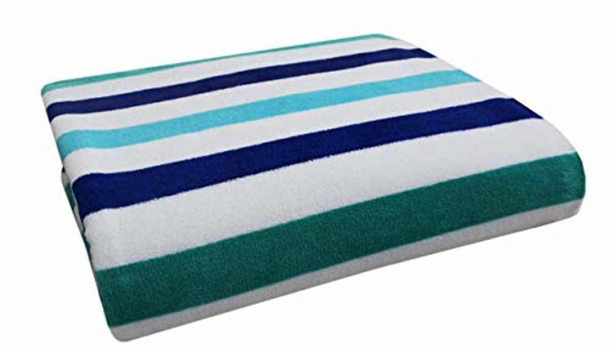 Cotton Craft Oversized Woven Velour Beach Towel Huge 58x68in