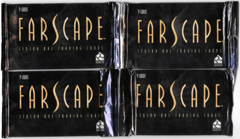 Farscape TV Series Season One Trading Cards 4 NEW SEALED Packs 2000 Rittenhouse