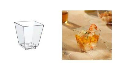 """Fingerfood """"Schalen"""" eckig-glasklar - 50 Stück"""