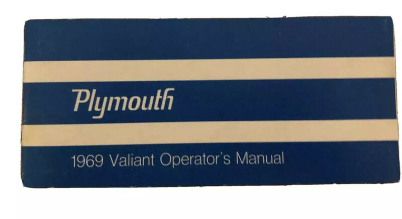 1969 vintage original car owners manual - PLYMOUTH - VALIANT