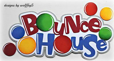 CRAFTECAFE BOUNCE KID TITLE paper pieces premade scrapbook page die cut WOLFFEY5