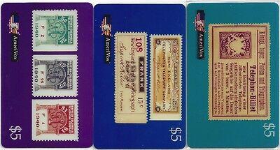 TK 162b Telefonkarte/Phonecard USA Amerivox 3er Set Thephone Stamp Auflage 1000
