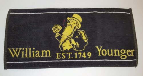 William Younger Bar Towel 100% Cotton Black & Yellow Product Publicity Clean