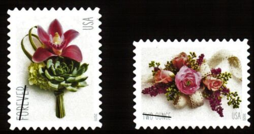 #5457 - 5458 2020 Contemporary Boutonniere & Corsage (Ships after 4/2/2020) -MNH