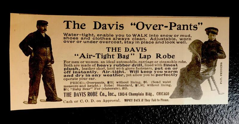 1904 Davis Robe Co. Pants Clothing Advertising - Chicago
