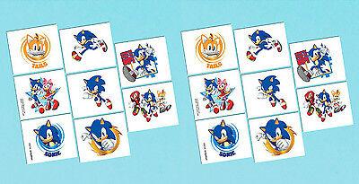 Sega's Sonic the Hedgehog Temporary Tattoo Favors Birthday Party Supplies ~ 16ct - Sonic The Hedgehog Birthday