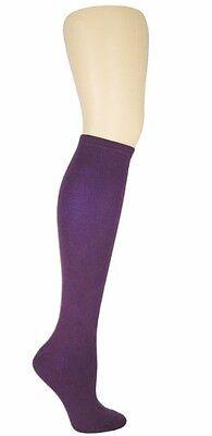 K.Bell Dark Purple Really Soft And Dreamy Knee High Socks Ladies New - Knee High Purple Socks