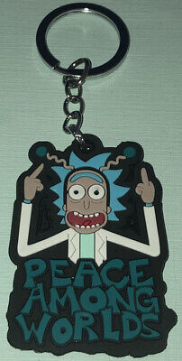 Rick & Morty Rubber Die-Cut Keychain/Keyring Rick Peace Among Worlds -