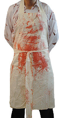 Halloween-Scary-Evil-Butcher-Sweeney Todd-Barber-GRUESOME HORROR APRON One Size ()