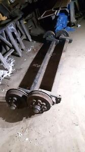 Pair of 8000lb (ea) Torsion Axles with Rims and tires