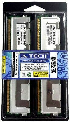 16GB 2 x 8GB ECC FULLY BUFFERED PC2-5300 DIMM DDR2 667 MHz FB Server Memory RAM
