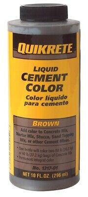 Quikrete 1317-01 Concrete Colorant Brown Cement 10 Oz