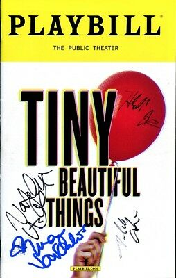 TINY BEAUTIFUL THINGS In-person Cast Signed Playbill