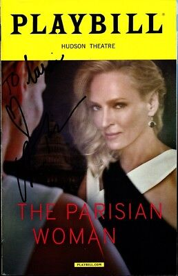 THE PARISIAN WOMAN Signed Playbill by UMA THURMAN