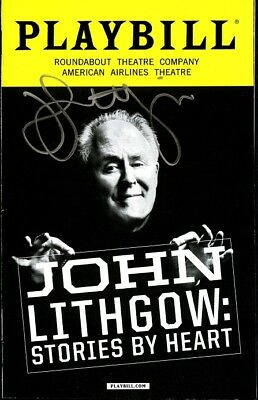 STORIES BY HEART In-person Signed Playbill by JOHN LITHGOW