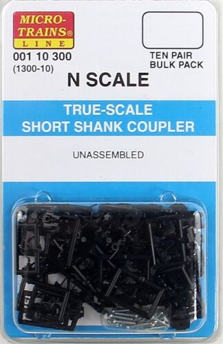 Micro-Trains N True-Scale Coupler w/Short Shank (10 Pair) (1300-10) MTL00110300