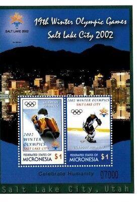 Micronesia - 2002 - Winter Olympics - Salt Lake City stamp Souvenir Sheet MNH