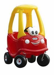 """Little Tikes """"Cosy Coupe"""" & """"Cosy Fuel Pump"""" - labels still on and never used outside"""