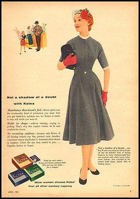 1954 vintage ad for Kotex -143