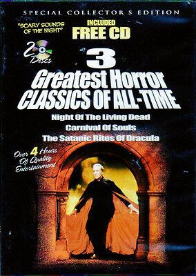 3 GREATEST HORROR CLASSICS OF ALL-TIME + SCARY SOUNDS OF THE NIGHT HALLOWEEN NEW (Halloween Sounds Of The Night)