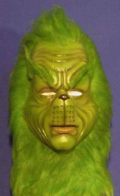 THE GRINCH LATEX MASK -- Costume Cosplay Dr. Seuss Bust Halloween -- NOT CHINA !