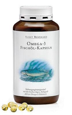 400 Fischöl Kapseln (1 Dose) von Sanct Bernhard Omega 3 Fettsäuren EPA und DHA - Omega 3 Dha Kapseln