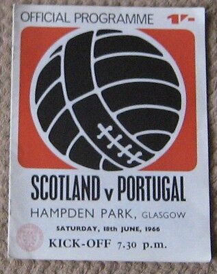 Scotland v Portugal 18/06/1966 includes teams for S.F.A. Youth Final