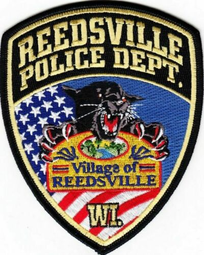REEDSVILLE WISCONSIN POLICE DEPT PANTHER WILD CAT FLAGS RPD PD (FIRE) WI