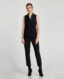 Zara tuxedo jumpsuit brand new