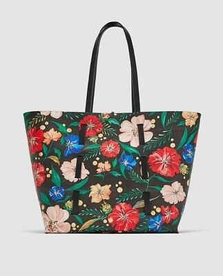 NWT Zara Reversible Floral Print Tote Bag Ref 2022/304