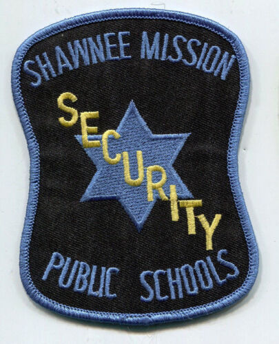 Shawnee Mission Public Schools Security Patch / Kansas OLD STYLE - USED / Police