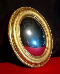 Miroir de sorci re ovale mod le ancien style louis philippe cadre en bois d - Miroir de sorciere ancien ...