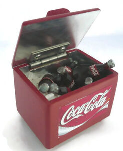 COCA-COLA-COOLER-ICE-CHEST-Dollhouse-Miniatures-Drink-Soda