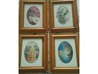 ME TO YOU 3D PICTURES X 4 IN PINE FRAME