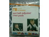 BRAND NEW Mothercare seat belt adjuster / chest pads