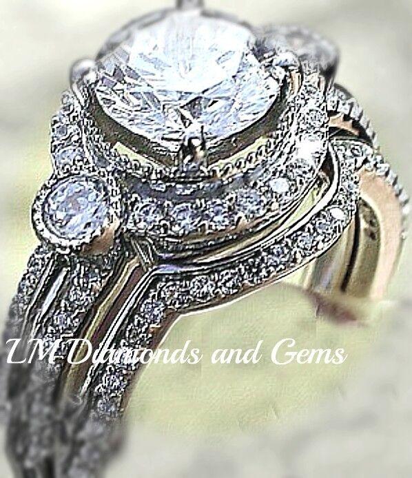 14k white gold diamond wedding rings sterling