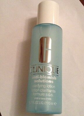 CLINIQUE ANTI-BLEMISH SOLUTIONS CLARIFYING LOTION 200ml brand new