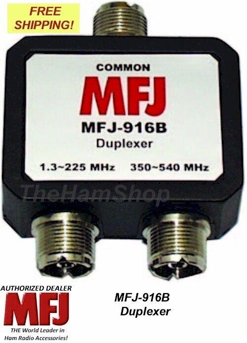 MFJ 916B 1 8-225, 350-540 MHZ DUPLEXER, ALL SO-239