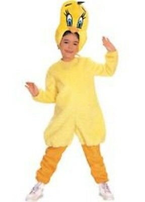 Boys Child Funny LOONEY TUNES Deluxe Tweety Costume](Funny Teen Boy Costumes)