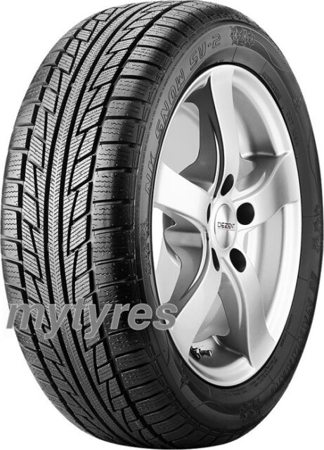 2x WINTER TYRES Nankang Snow SV-2 215/55 R18 95H with MFS BSW