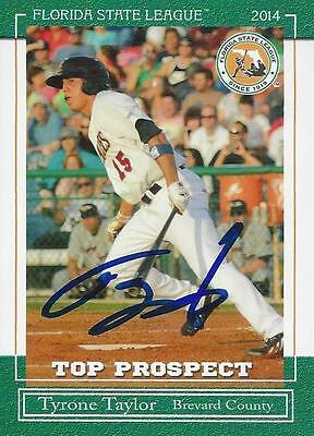 Tyrone Taylor 2014 Florida State League Brevard County Top Prospect Signed (Tyrone Florida)