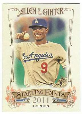 2015 Topps Allen And Ginter Starting Points  Sp 44 Dee Gordon Dodgers