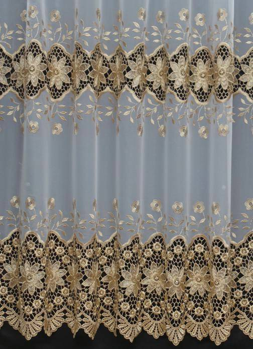 FIONA WHITE MACRAME VOILE CURTAIN  Made to Measure Any Size FREE HEMMING not net
