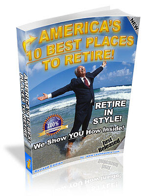 AMERICA'S 10 BEST PLACES TO RETIRE! PDF EBOOK FREE SHIPPING RESALE (10 Best Places To Retire)