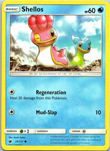 4x C Pokemon D/&P Secret Wonders Card # 107 Shellos West Sea pok-SW-107