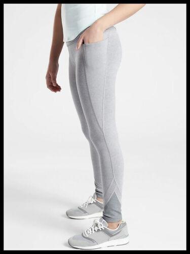 NWT Athleta Girl Trust fall Tight Size S/7 Color Cobblestone Grey Heather