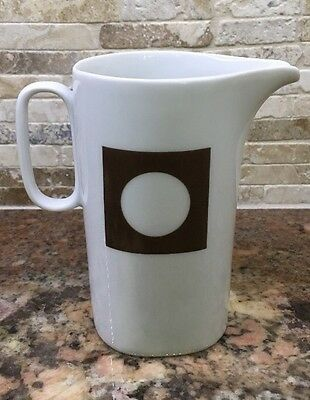 CIRCLE IN THE SQUARE Block China Langenthal creamer Pitcher Transition Mod 70's